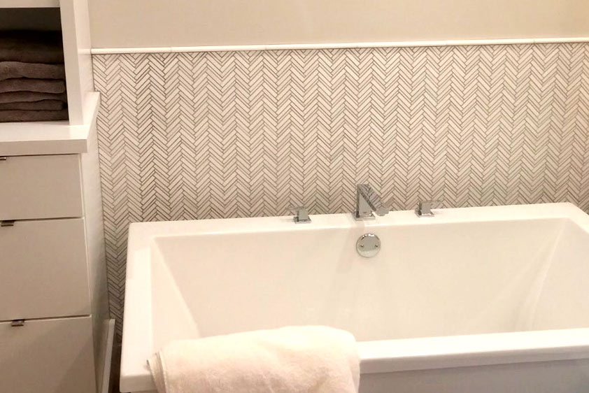 Marble Tile - Deco Wall Bathtub Wall | Barbee Tile And Marble Naples Florida